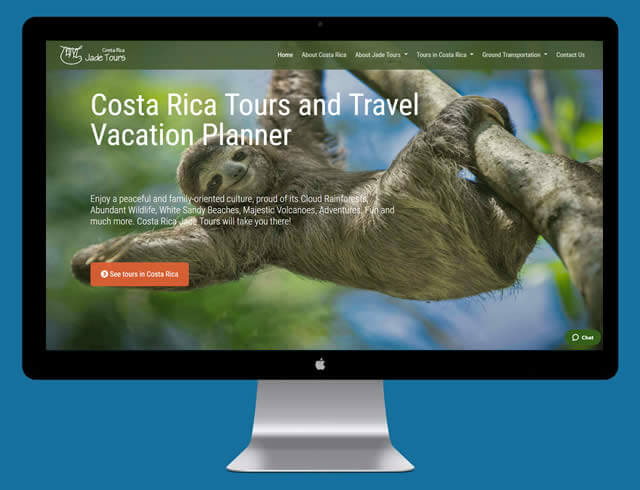 Sitio web Costa Rica Jade Tours